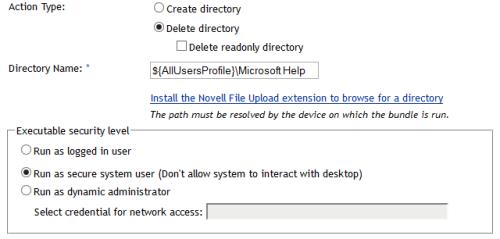 delete directory